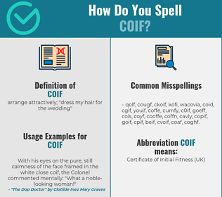 Correct spelling for coif