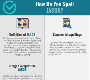 Correct spelling for jacob