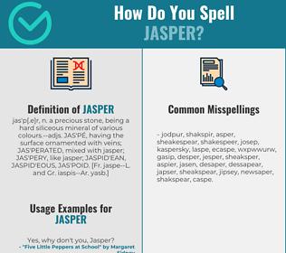 Correct spelling for jasper