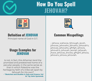 Correct spelling for jehovah
