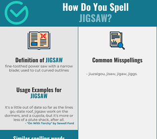 Correct spelling for jigsaw