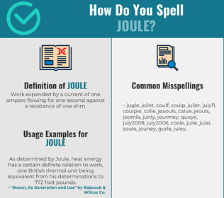 Correct spelling for joule