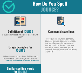 Correct spelling for jounce