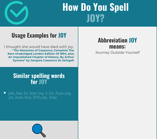 Correct spelling for joy