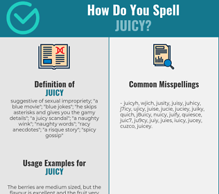 Correct spelling for juicy