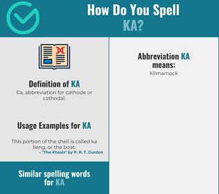 Correct spelling for ka