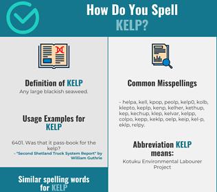 Correct spelling for kelp