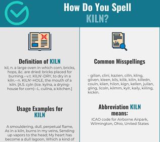 Correct spelling for kiln