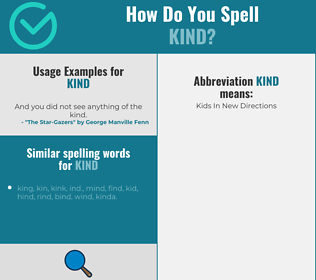 Correct spelling for kind