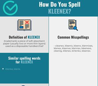 Correct spelling for kleenex