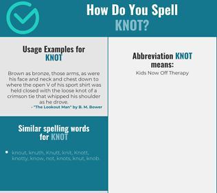 Correct spelling for knot