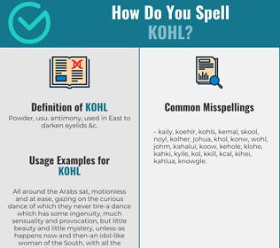 Correct spelling for kohl