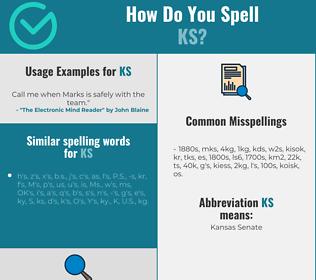 Correct spelling for ks