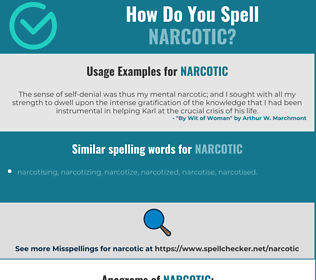 Correct spelling for narcotic