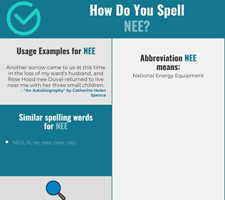 Correct spelling for nee