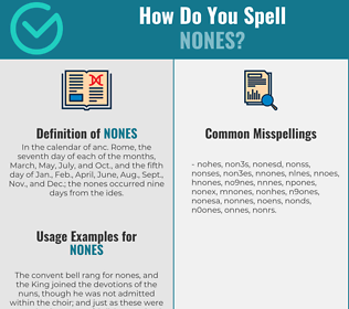 Correct spelling for nones
