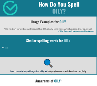 Correct spelling for oily