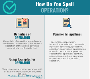 Correct spelling for operation