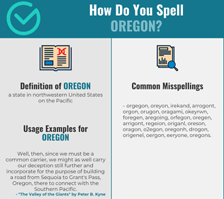 Correct spelling for oregon