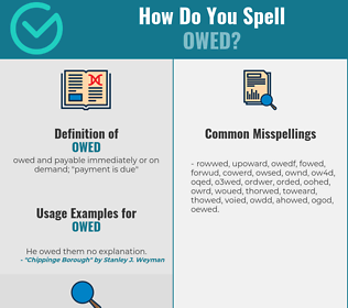 Correct spelling for owed