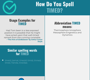 Correct spelling for timed