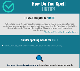 Correct spelling for untie