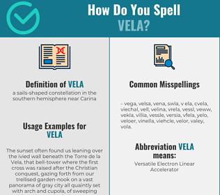 Correct spelling for vela