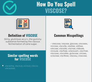 Correct spelling for viscose