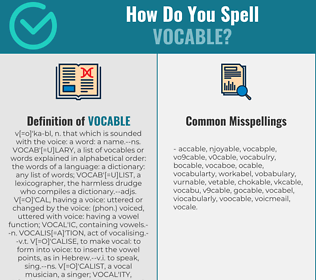 Correct spelling for vocable