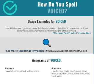 Correct spelling for voiced