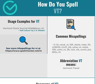 Correct spelling for vt