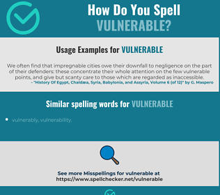 Correct spelling for vulnerable