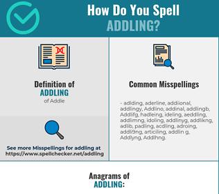 Correct spelling for Addling