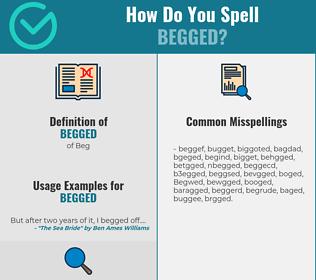 Correct spelling for Begged