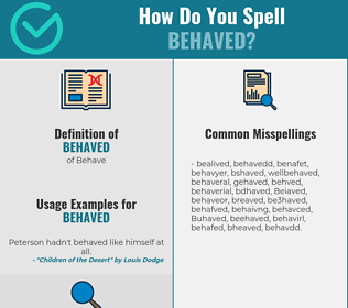 Correct spelling for Behaved
