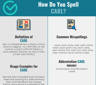 Correct spelling for Carl
