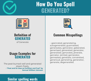 Correct spelling for Generated