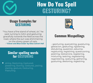Correct spelling for Gesturing