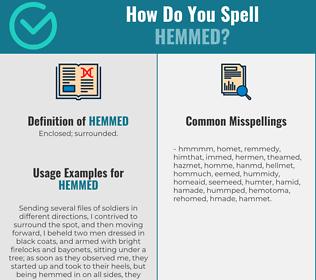 Correct spelling for Hemmed