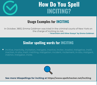 Correct spelling for Inciting