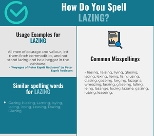 Correct spelling for Lazing