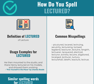Correct spelling for Lectured