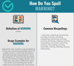 Correct spelling for Marring