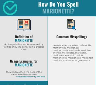Correct spelling for Marionette