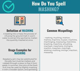 Correct spelling for Mashing