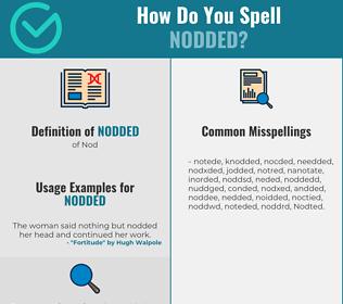 Correct spelling for Nodded