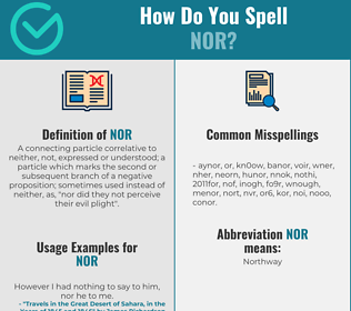 Correct spelling for Nor