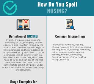 Correct spelling for Nosing