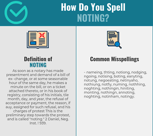 Correct spelling for Noting
