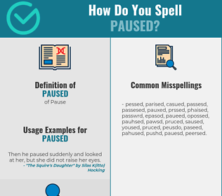 Correct spelling for Paused